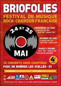 Affiche du festival des BrioFolies