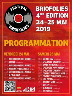Programmation du festival des BrioFolies